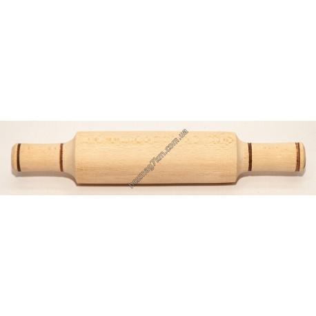 A125 Скалка деревянная средняя ( с ручками )